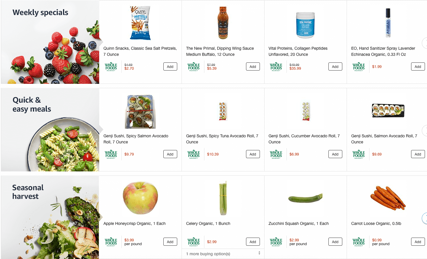 Free Whole Foods Delivery to Amazon Prime Members {Over $35