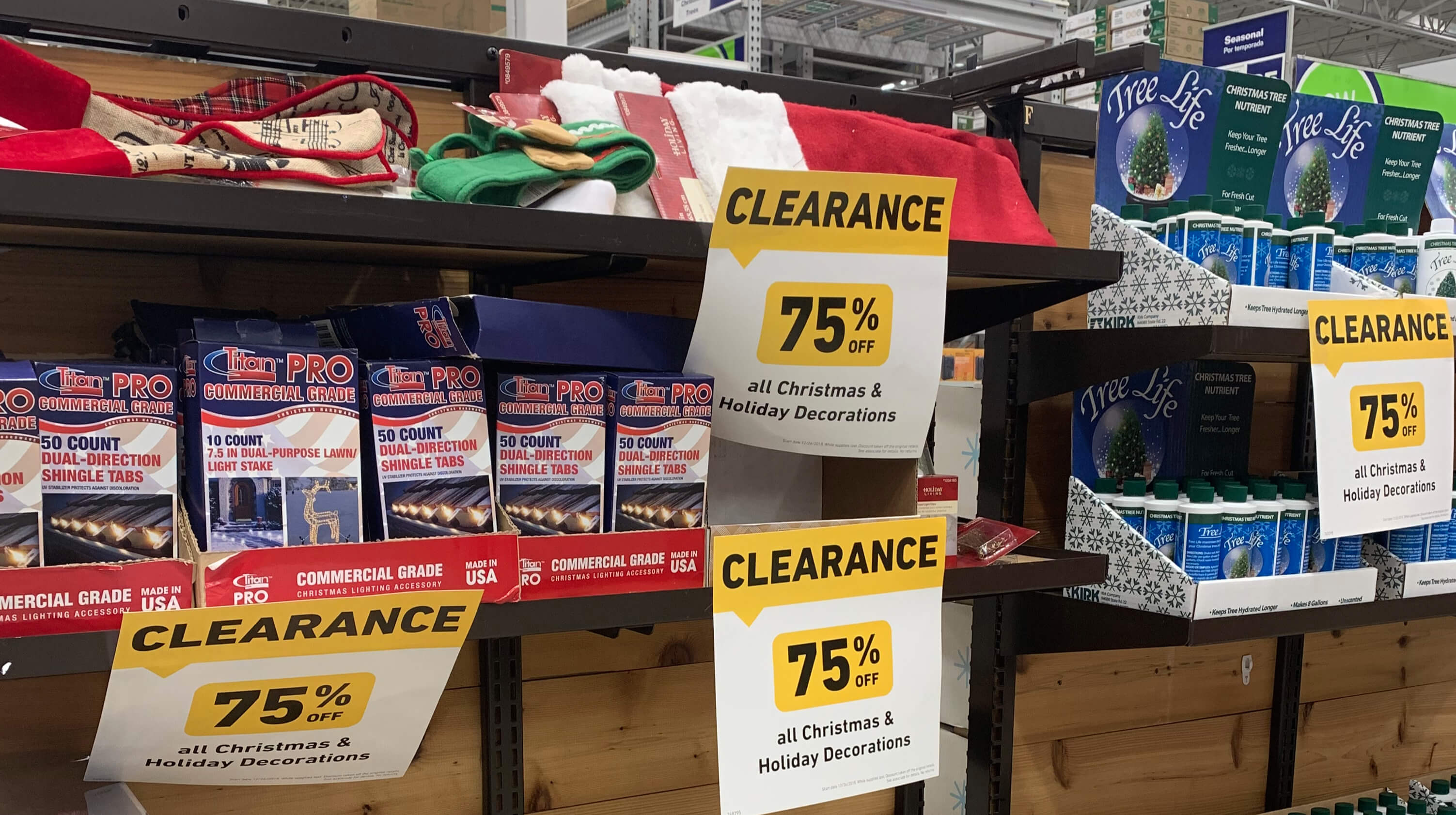 Christmas Clearance 75 Off.75 Off Christmas Clearance At Lowes Living Rich With