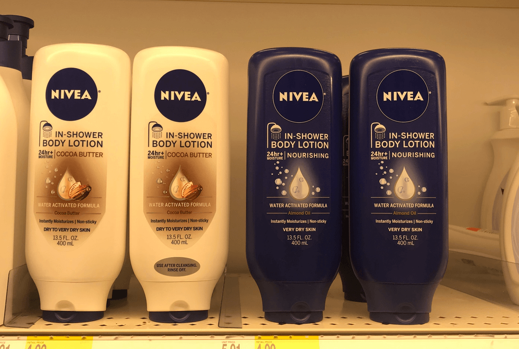 graphic regarding Nivea Printable Coupons identify Clean $4/2 NIVEA Overall body Lotion, Inside-Shower System Lotion, or Creme