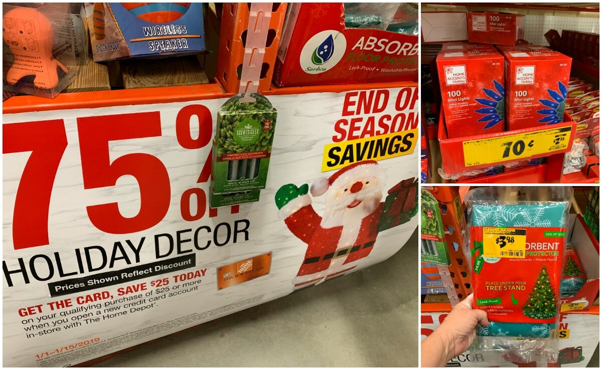 Christmas Clearance 75 Off.75 Off Christmas Clearance At Home Depot Living Rich With