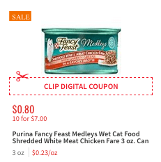 image relating to Fancy Feast Printable Coupons identify Contemporary $2/$20 Purina Extravagant Feast Medleys Moist Cat Meals Coupon