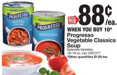 progresso soup coupons dec 2019