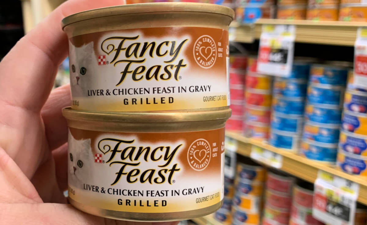 graphic regarding Fancy Feast Printable Coupons identify Refreshing $1.50/30 Purina Extravagant Feast Damp Cat Foodstuff Coupon - $0.47