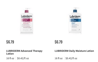lubriderm coupon deal