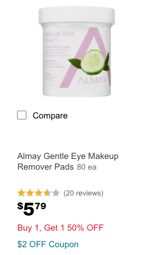 photo regarding Almay Printable Coupons identify Contemporary $2/1 Almay Solution Coupon - $0.34 Make-up Remover Pads at
