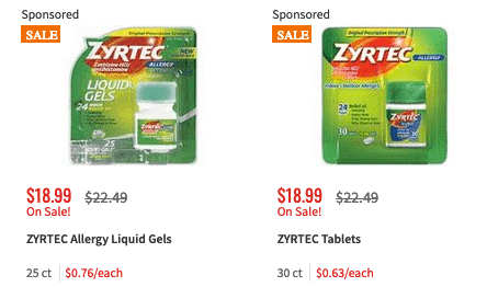 picture relating to Zyrtec Printable Coupon $10 identified as Fresh $4/1 Zyrtec Grownup Allergy Coupon + Bargains at ShopRite