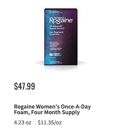 image regarding Rogaine Printable Coupon named Contemporary $5/1 Womens or Mens ROGAINE Hair Regrowth Technique