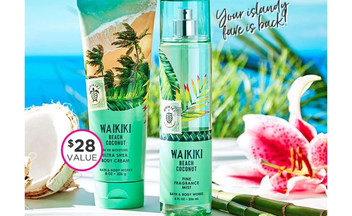 Two Free Bath Body Works Waikiki Beach Products 28 Value