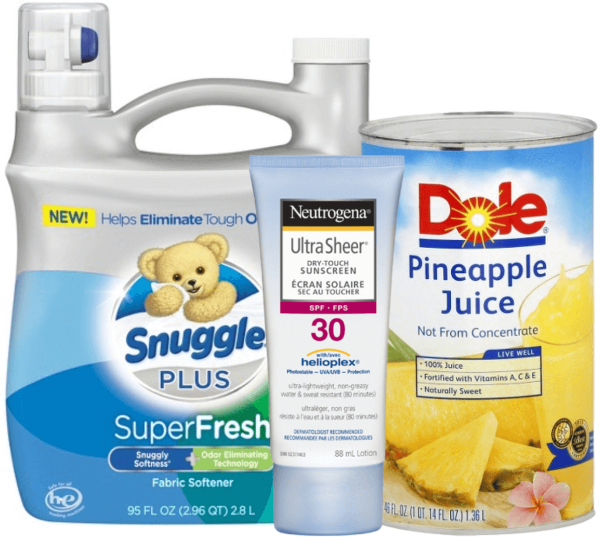 image about Snuggle Coupons Printable referred to as Todays Best Clean Discount coupons - Help you save upon Snuggle, Dole, Neutrogena