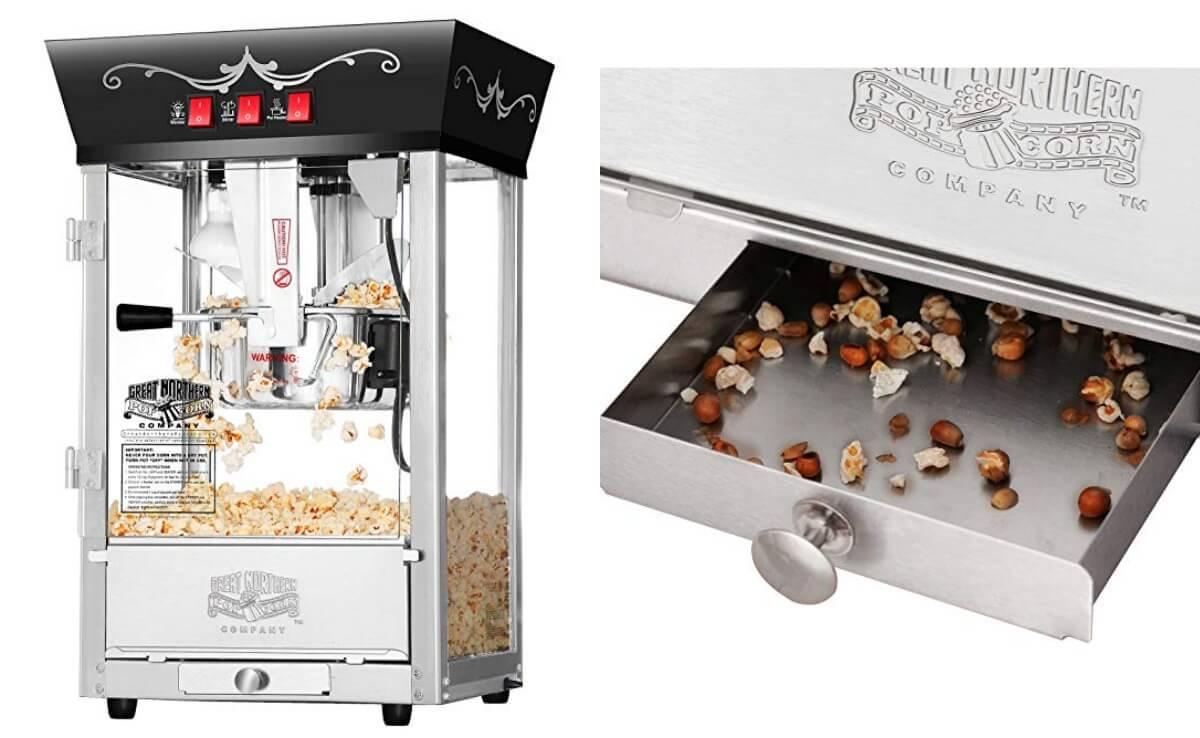 Great Northern Popcorn Black Antique Style Popcorn Popper Machine