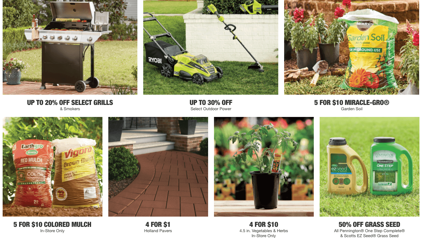 Spring Black Friday Sale At Home Depot Soil Seed Pavers And More Living Rich With Coupons