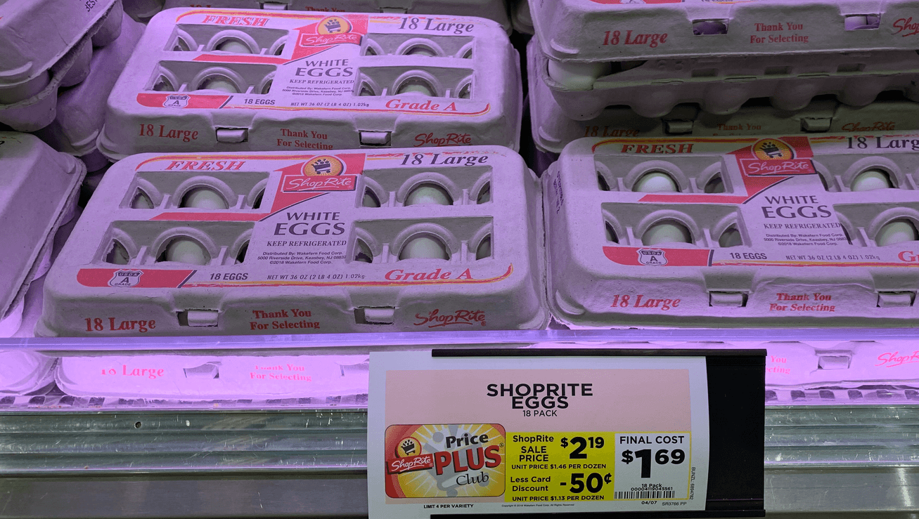 ShopRite Brand Large Eggs 18ct As Low As $0.99!