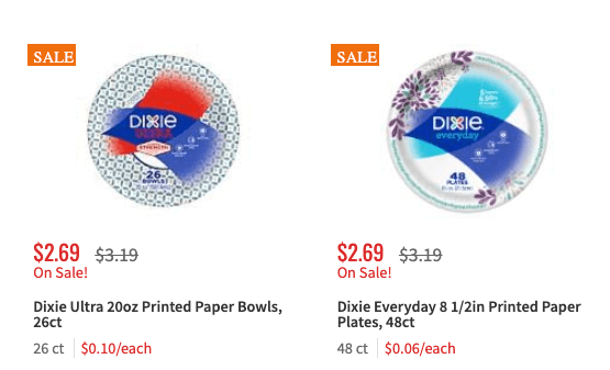 Dixie Ultra & Everyday Paper Plates Just $1.29 At ShopRite