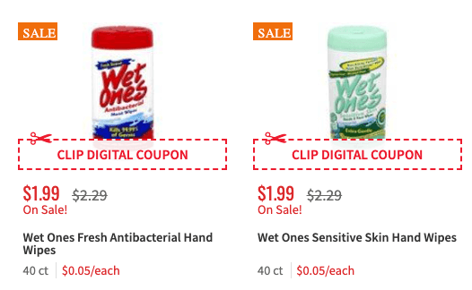 coupons for wet ones wipes