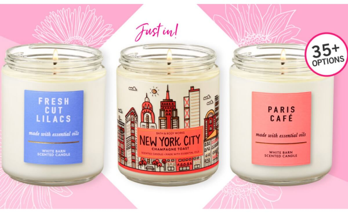 picture about Carol's Daughter Printable Coupons named Tub Human body Functions Solitary Wick Candles $5.95 Every single (Reg