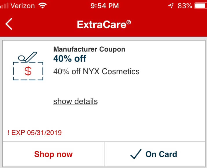 photograph about Nyx Printable Coupon identified as NYX Proficient Make-up as Small as Cost-free at CVS! Residing Abundant