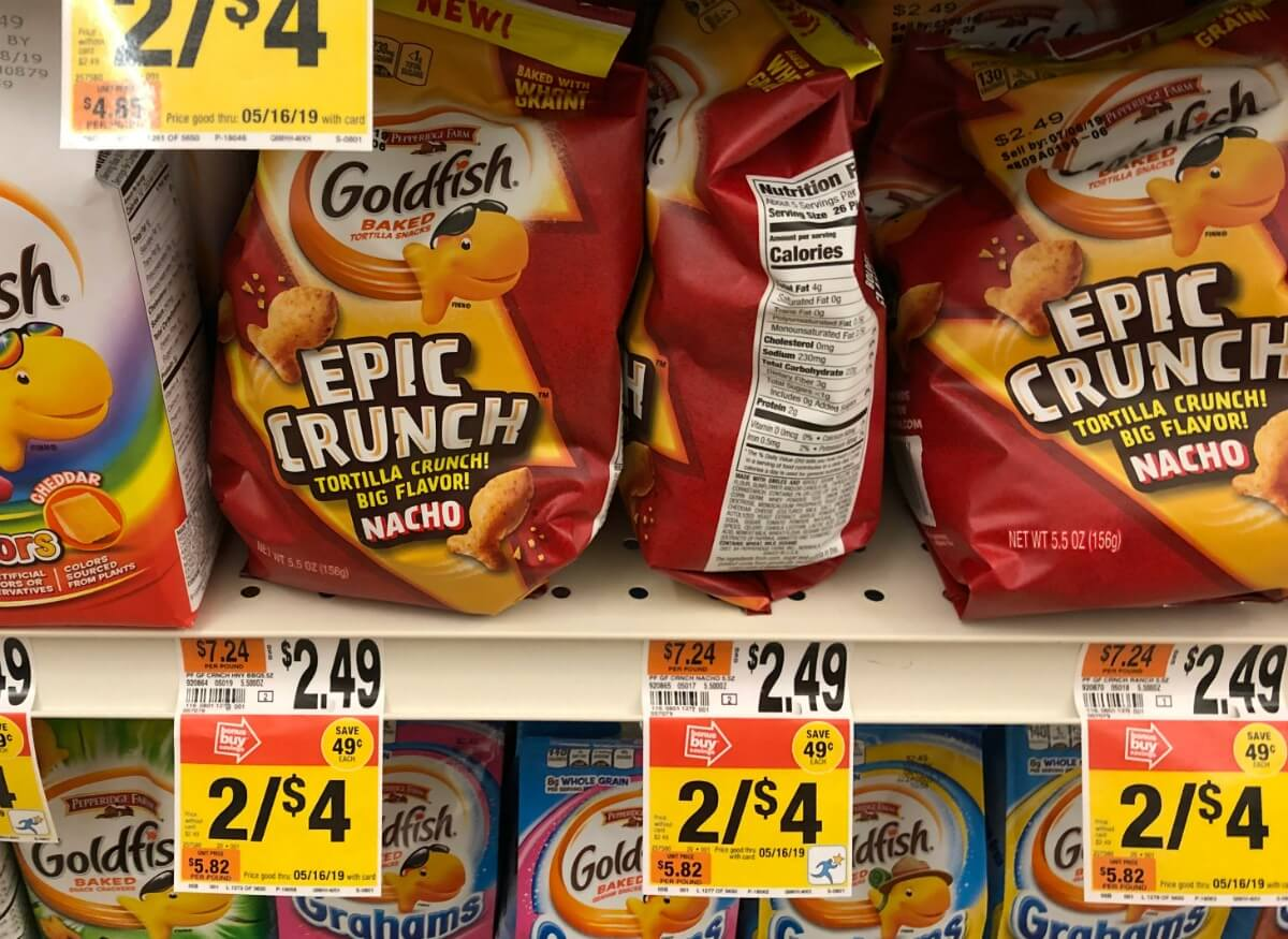 graphic relating to Goldfish Printable Coupons referred to as Pepperidge Farm Epic Crunch Goldfish Accurately $1.25 at Finish