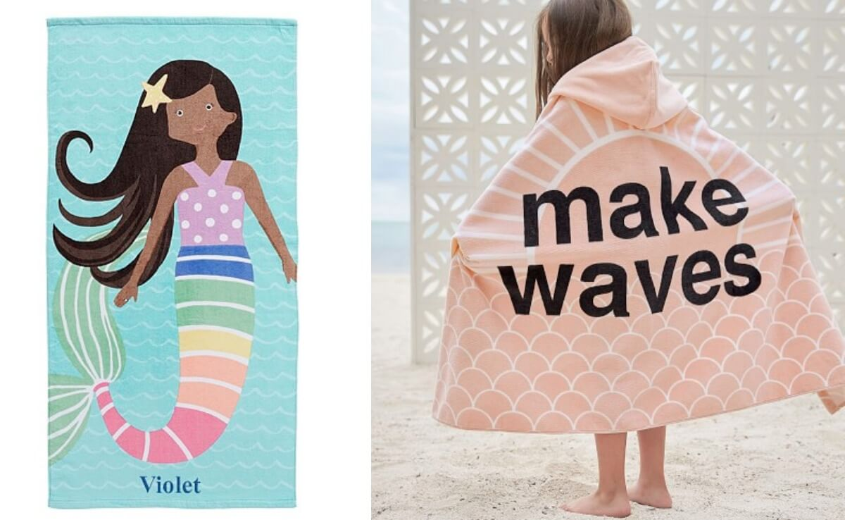 photo about Pottery Barn Kids Printable Coupons identify Pottery Barn Little ones Seaside Towels Beach front Wraps $6.99 (Reg. Up