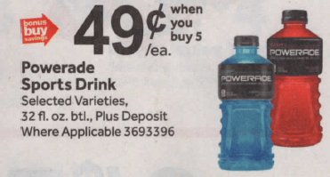 graphic regarding Printable Powerade Coupons named Powerade Beverages simply just $0.49 at Prevent Keep 6/14 -No Coupon codes