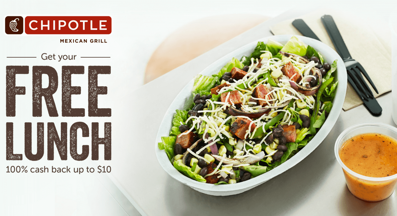 picture relating to Chipotle Printable Coupons named Buy Totally free Lunch at Chipotle! Ibotta Rebate Residing Loaded