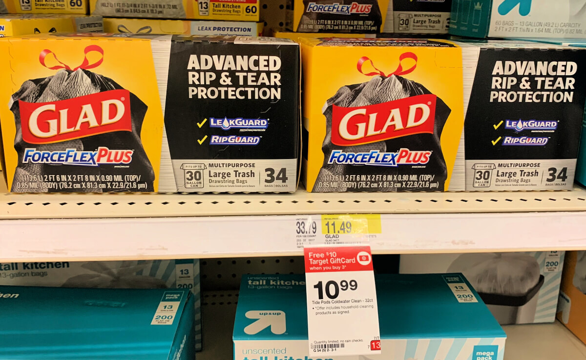 graphic regarding Glad Trash Bags Printable Coupon called Unusual! Preserve $2.50 upon Pleased Hefty Trash Luggage + Best Specials at