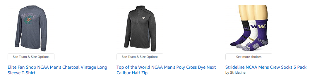 Top of the World NCAA Mens Poly Cross Dye Next Calibur Half Zip
