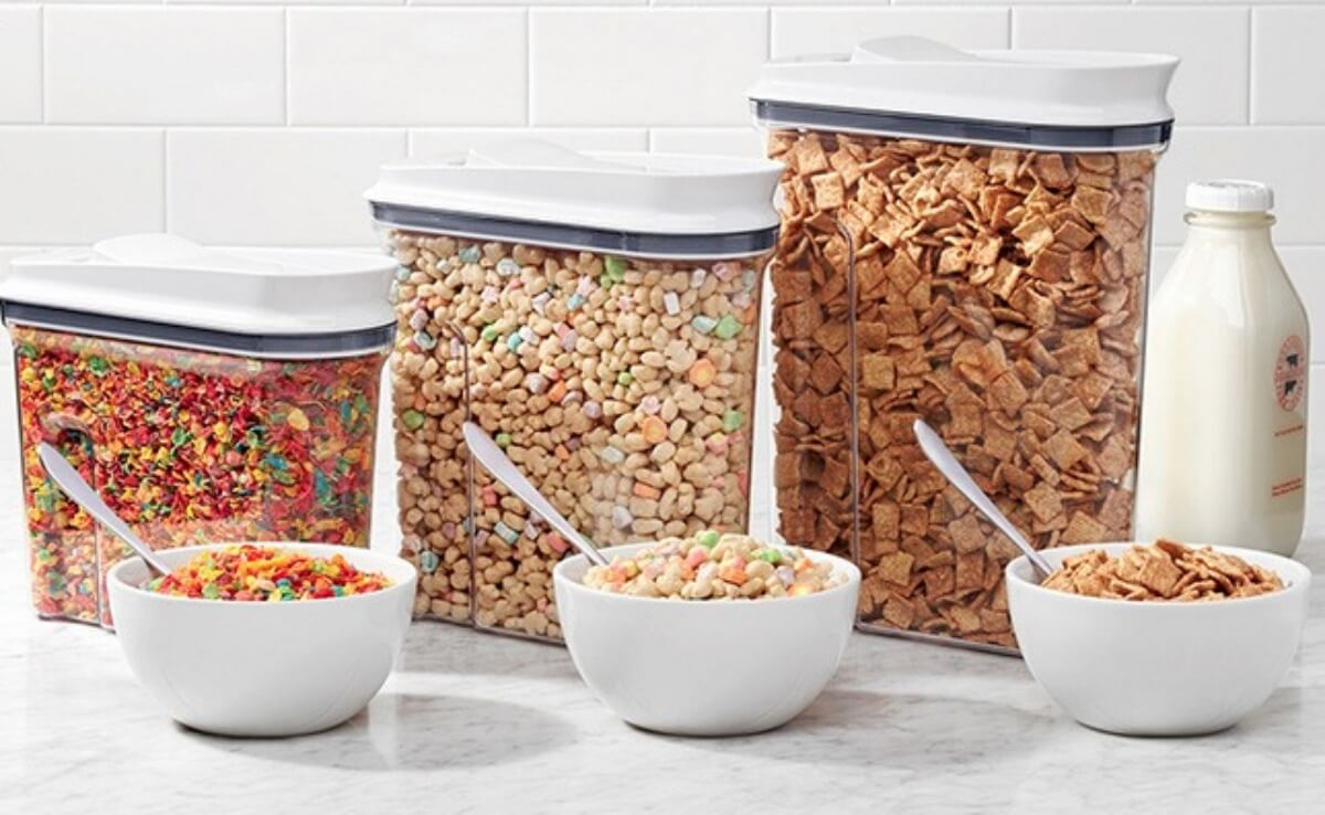OXO Good Grips 3-Pc. Pop Cereal Dispenser Set $29.99 at Macy's (Reg.  $89.99) | Living Rich With Coupons®