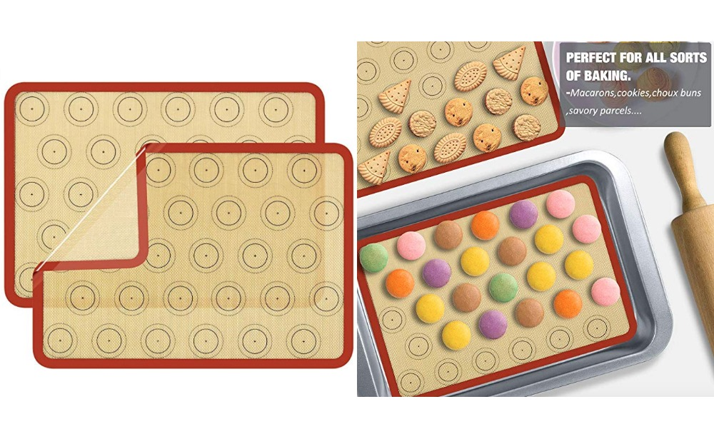 50 Off Macaron Silicone Baking Mat Bpa Free Set Of 2 Living Rich With Coupons