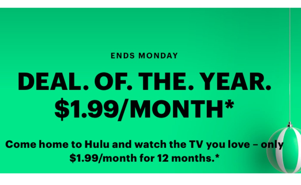 Hulu Black Friday Deal Just 1 99 Month For 12 Months Living Rich With Coupons