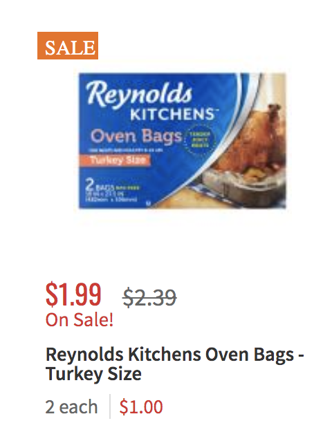 Reynolds Turkey Size Oven Bags Just $0.49 at ShopRite ...