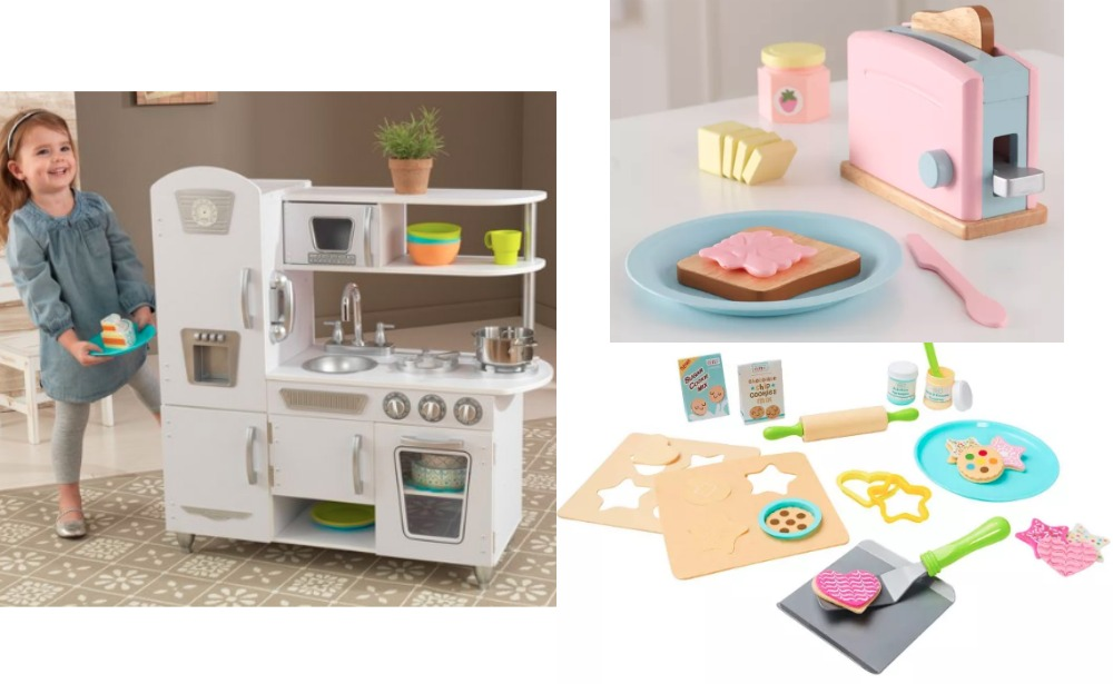 KidKraft White Vintage Kitchen + 2 Play Kitchen Sets $76 at ...