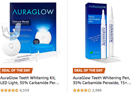 50 Off Highly Rated Auraglow Teeth Whitening Kit More Living