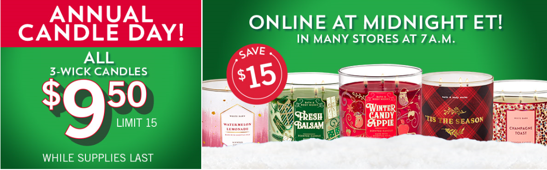 bath and body works coupons for candle day