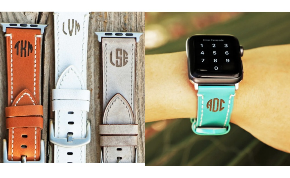 Monogram Leather Apple Watch Bands Just 10 99 Orig 49 99 Free Shipping Living Rich With Coupons