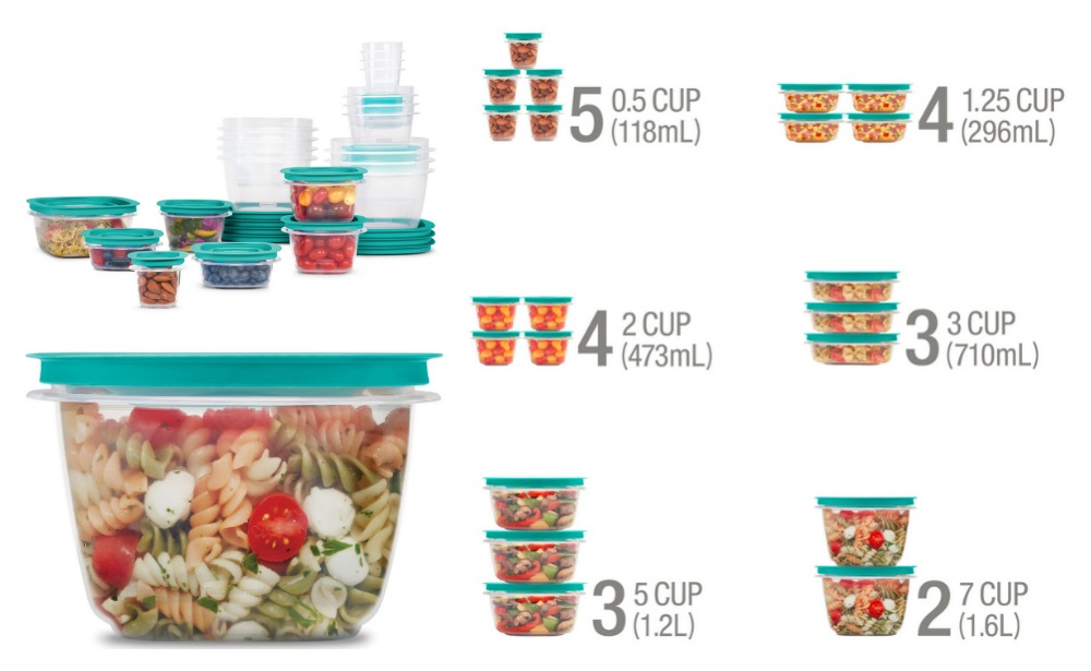Rubbermaid 42-piece Press /& Lock Food Storage Set