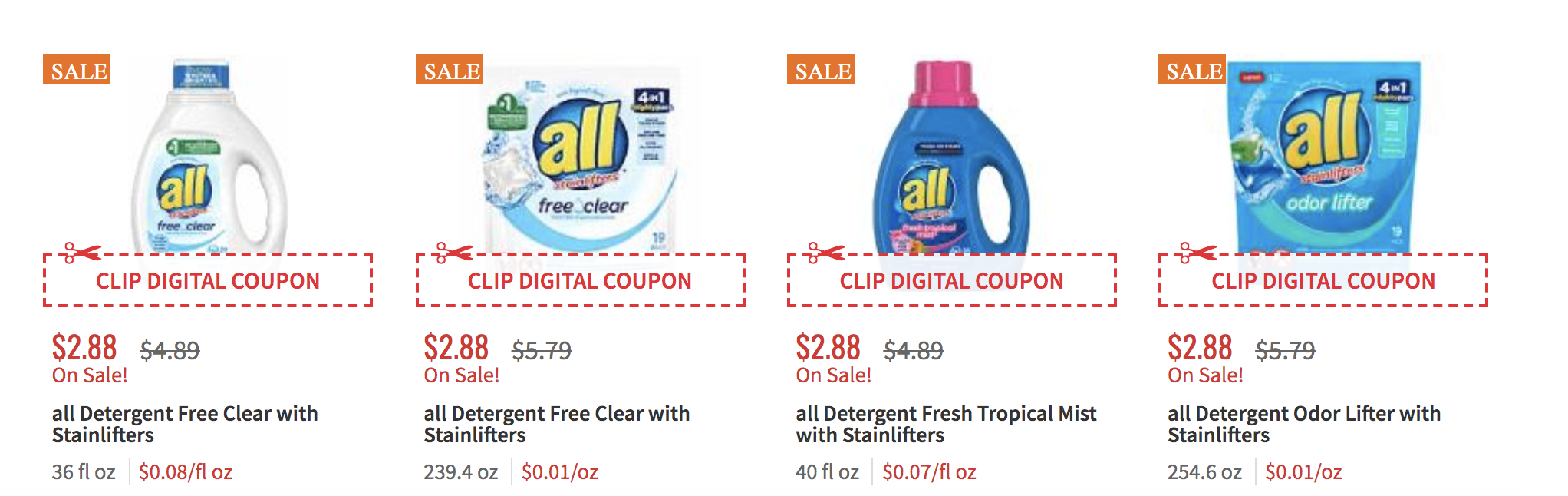 All Laundry Detergent Just 1 88 At Shoprite Living Rich With Coupons