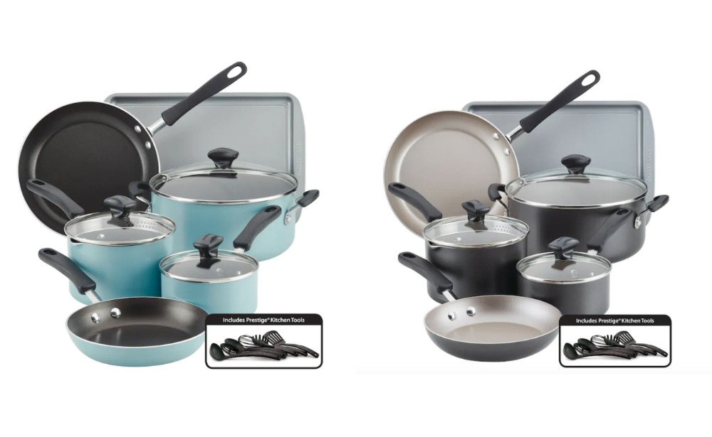 Cardholders Farberware Cookstart 15 Pc Diamondmax Nonstick Cookware Set 28 99 10 Kohl S Cash Reg 119 99 After Rebate Free Shipping Living Rich With Coupons