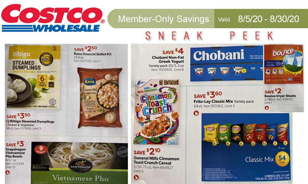 Costco Sneak Peek - Members Only Savings 8/5 - 8/30/20