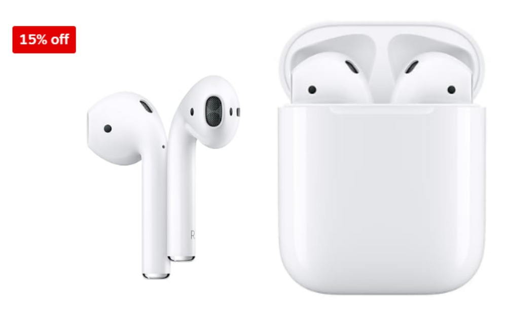 Apple Airpods Bluetooth Headphones With Charging Case 134 Reg 159 Free Next Day Delivery At Staples Living Rich With Coupons