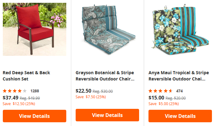 Great Prices On Patio Cushions Pillows On Clearance At Big Lots Living Rich With Coupons