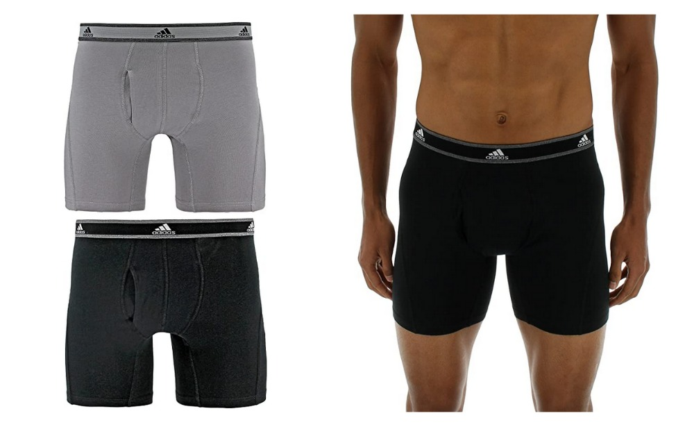 Ejercer inversión suficiente  Hot Price! adidas Men's Relaxed Performance Stretch Cotton Boxer Brief  Underwear (2 Pack) {Amazon} | Living Rich With Coupons®