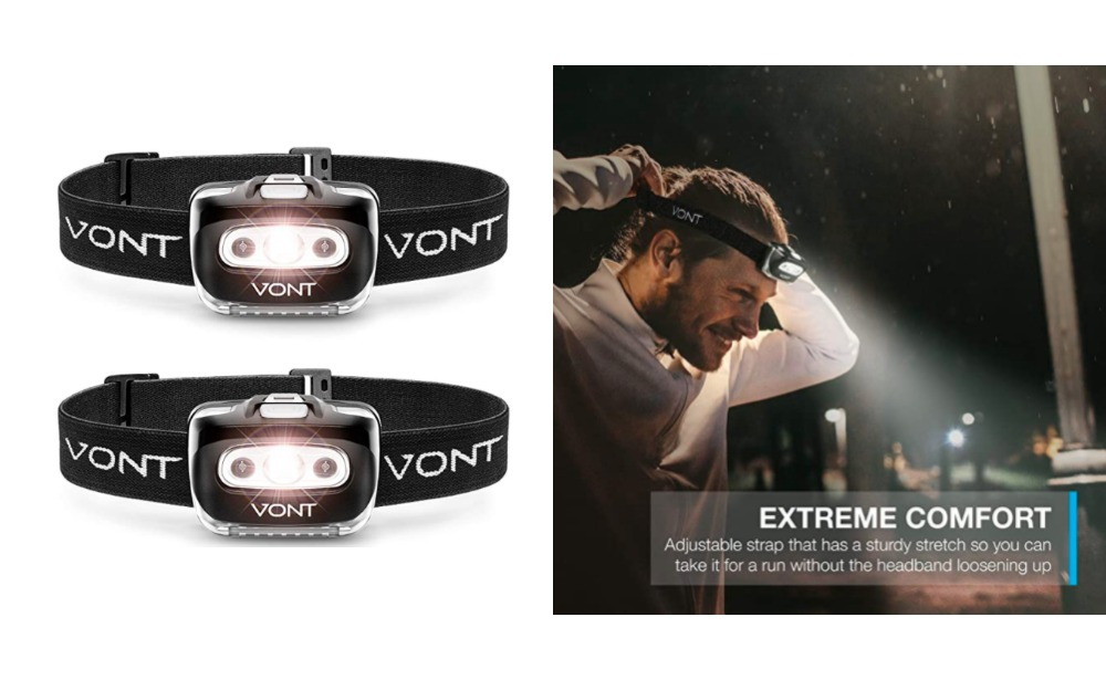 40 Off Vont Spark Led Headlamp Flashlight 2 Pack At Amazon Living Rich With Coupons