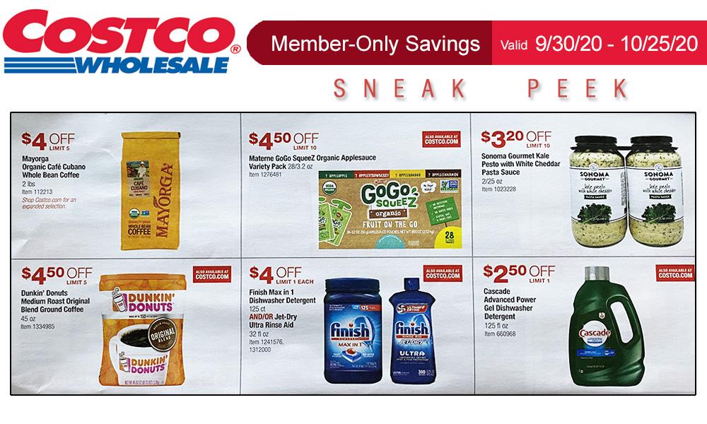Costco Sneak Peek Members Only Savings 9 30 10 25 20 Living Rich With Coupons