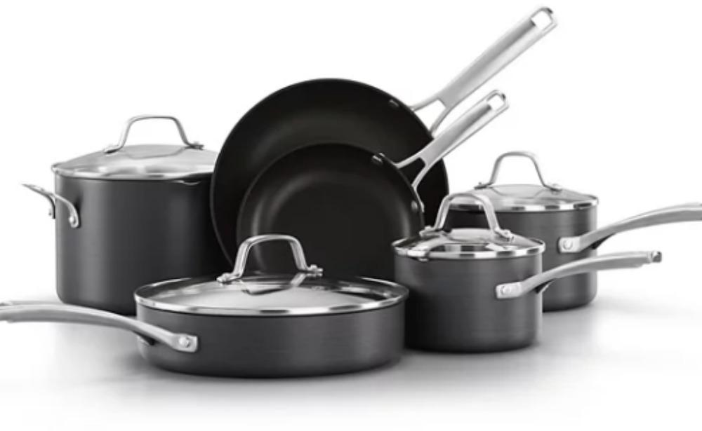 Kohl S Pre Black Friday Deals Calphalon Classic 10 Pc Hard Anodized Aluminum Nonstick Cookware Set 119 30 Kohl S Cash Living Rich With Coupons