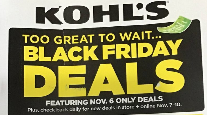 Kohl S Pre Black Friday Ad Is Out 11 6 Only 15 Kohl S Cash For Every 50 More Living Rich With Coupons