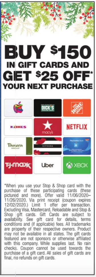 Hot Back Again Gift Card Deal 25 In Free Groceries For Stop Shop Shoppers Living Rich With Coupons