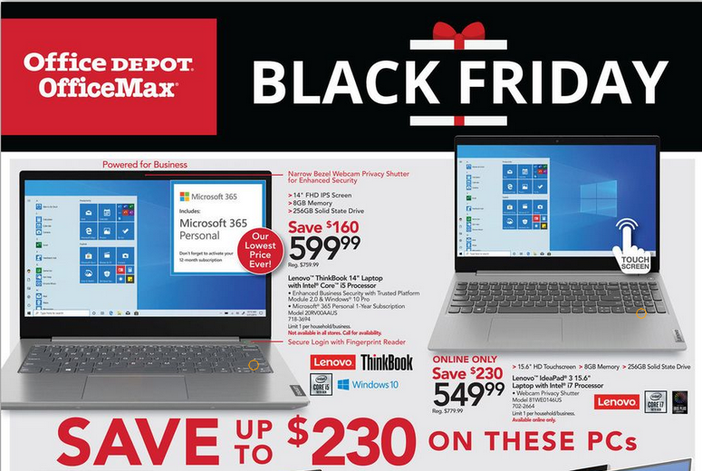 Office Depot Office Max Black Friday Ad 2020 Office Depot Office Max Deals Hours More Living Rich With Coupons