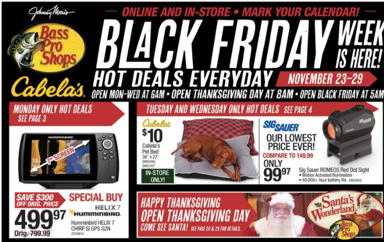 Bass Pro Shops Black Friday Ad 2020 Bass Pro Shops Deals Hours More Living Rich With Coupons