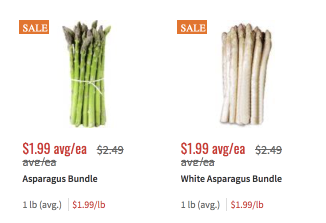 Fresh Green White Asparagus Spears Just 1 99 Per Pound At Shoprite Living Rich With Coupons