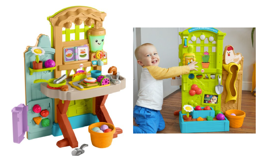 Fisher Price Laugh Learn Grow The Fun Garden Play Kitchen Just 39 Reg 79 99 Living Rich With Coupons